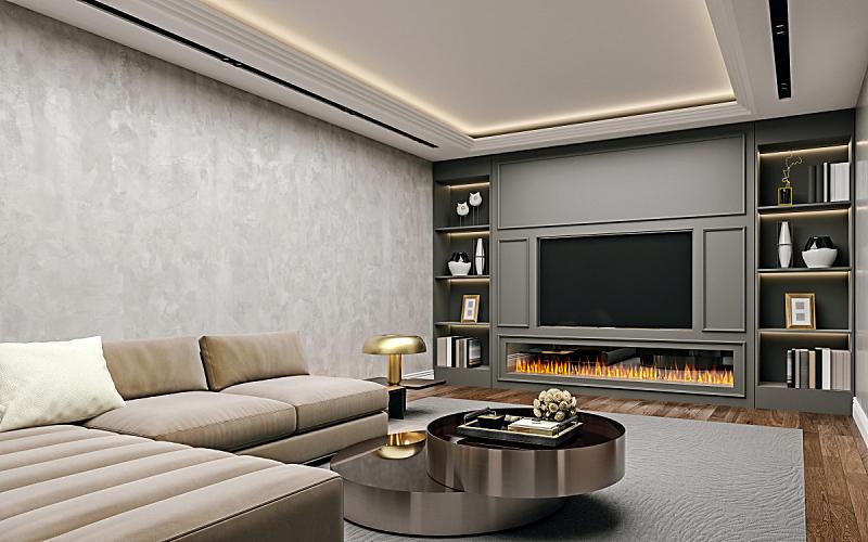 地板,现代,白灰泥,木制,起居室,灰膏,地下室,书架,墙,特写