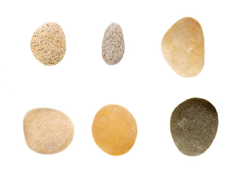 鹅卵石,自然,灰色,水平画幅,橙色,岩石,无人,白色背景,夏天,组物体