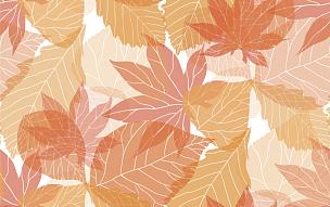 秋天,式样,叶子,十月,十一月,欧锻树,四方连续纹样,矢量,九月,华丽的