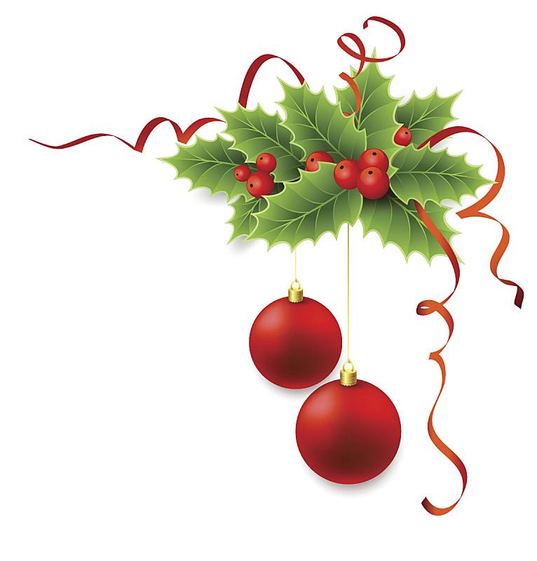 冬青树,矢量,浆果,蝴蝶结,角落,奖丝带,缎带,圣诞装饰,圣诞装饰物