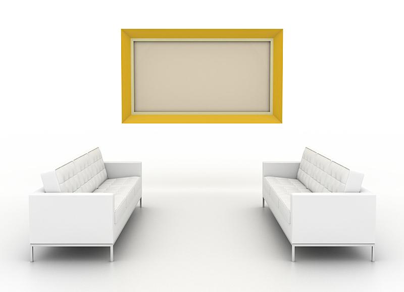 正面视角,画廊,白色,分离着色,空白的,留白,艺术,水平画幅,无人,白色背景