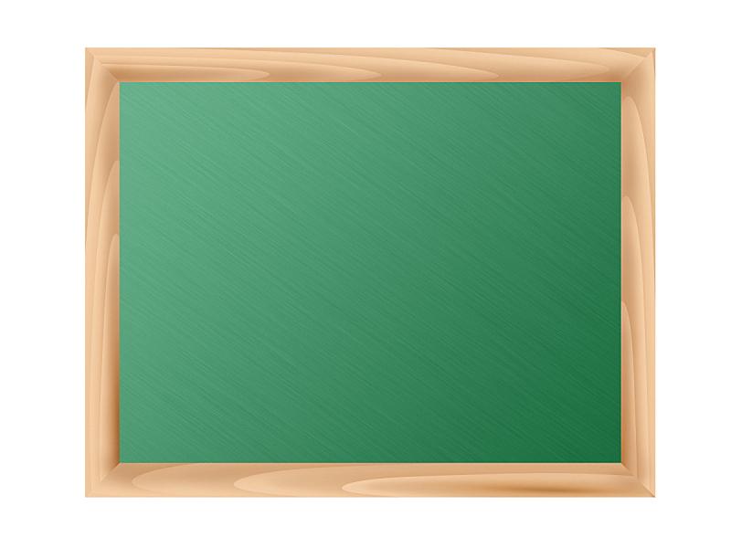 空白的,边框,绘画插图,黑板,木制,白色背景,分离着色,太空,水平画幅,绿色