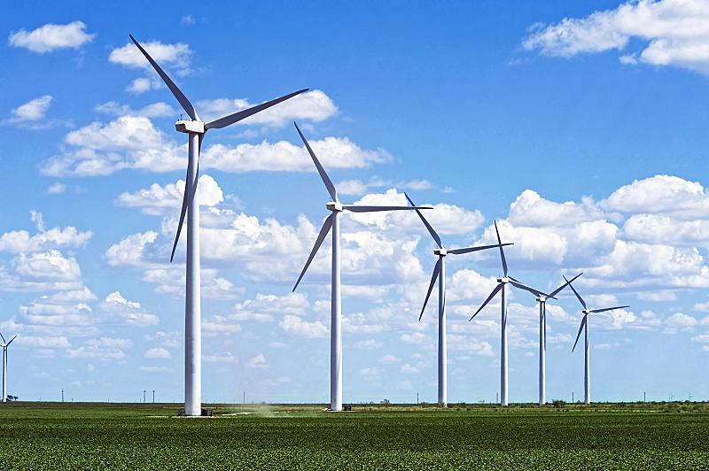 风力发电站,电缆,风,水平画幅,风力,能源,涡轮,户外,电源,田地