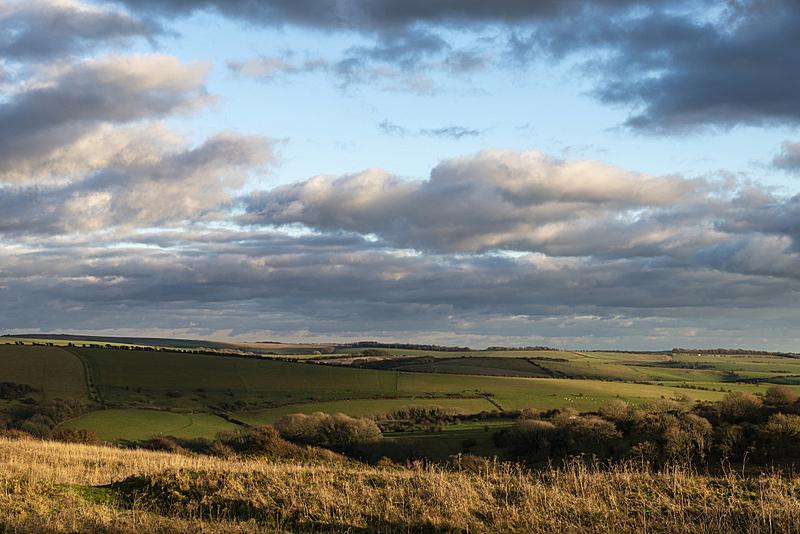 英格兰,南丘,秋天,地形,白昼,光,自然美,农业,云,黄昏