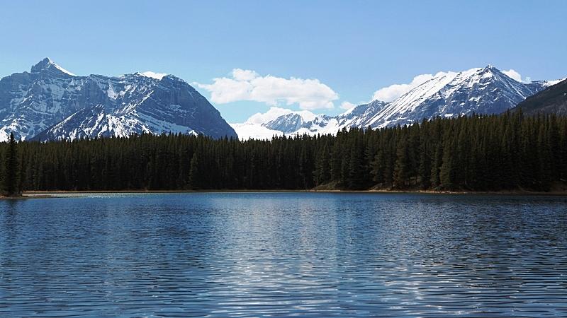加拿大,阿尔伯塔省,卡那那斯基村,湖,非都市风光,地形,户外,夏天,自然美,宁静