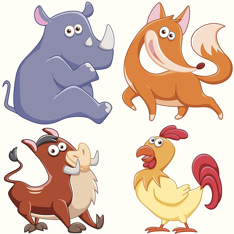 可爱的,动物,黑犀牛,公猪,犀牛,背景分离,野生动物,玩具,动物群,面部表情