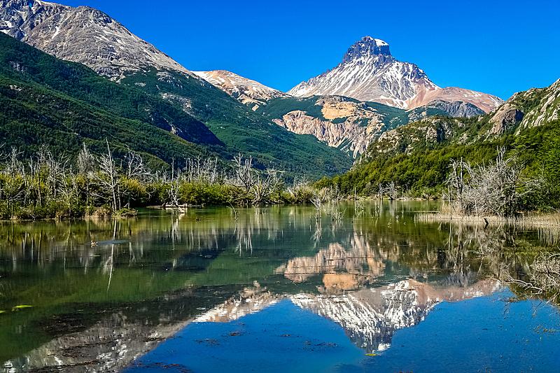 智利,自然,水,天空,水平画幅,地形,山,无人,蓝色,南