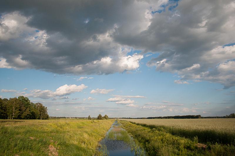 田地,水,灌溉设备,海峡,大农场,天空,水平画幅,无人,户外,干的