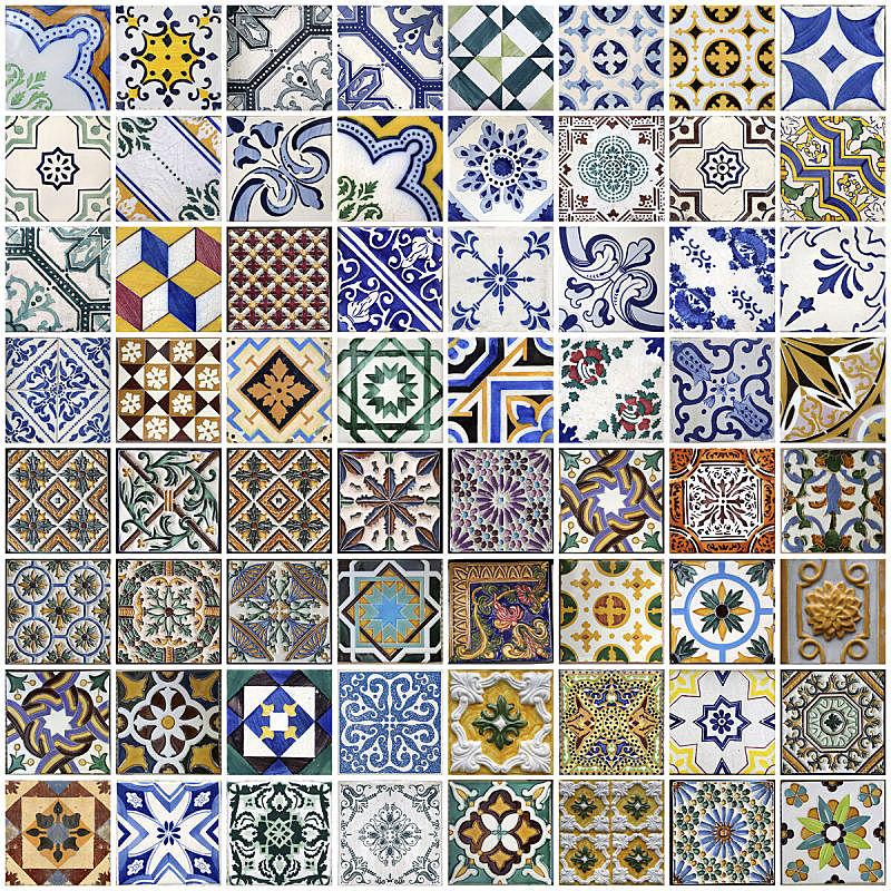 瓷砖,葡萄牙,波尔图,传统,黄色,陶瓷制品,正方形,图像,波特酒,组物体
