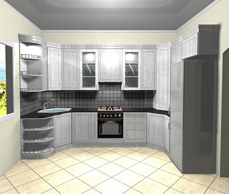 三维图形,厨房,白色,木制,简单,水平画幅,墙,无人,抽油烟机,玻璃