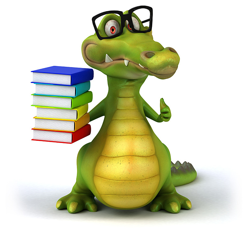 鳄鱼,水平画幅,形状,绿色,绘画插图,性格,白色背景,背景分离,卡通,爬行纲