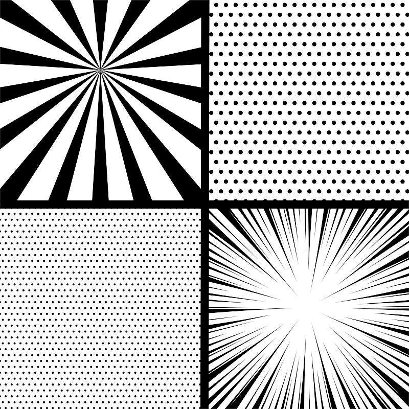 单色调,波普风,漫画书,轻蔑的,绘画插图,气球,盒子,计算机制图,计算机图形学,卡通