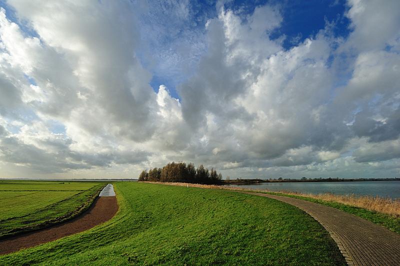 马肯,荷兰,非都市风光,地形,爱塞美尔湖,水,天空,水平画幅,无人,运河