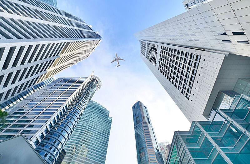 新加坡,cbd,航空器拍摄视角,横截面,配送中心,天空,未来,高视角,顶部,都市风景