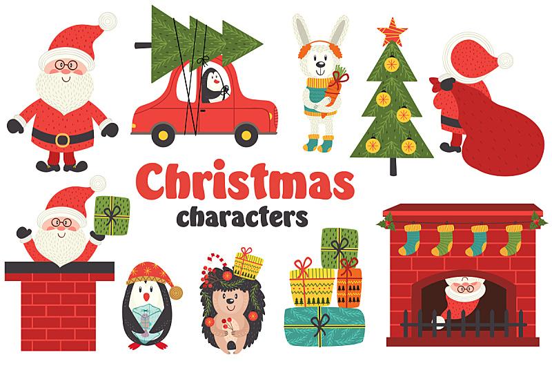 性格,分离着色,一只动物,部分,新的,雪,绘画插图,企鹅,计算机制图