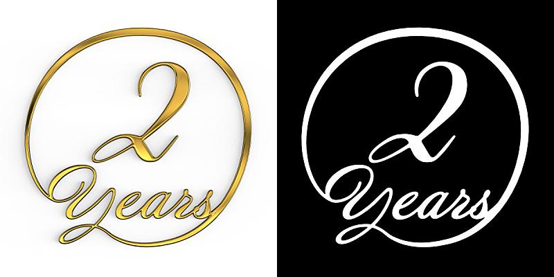 数字2,黄金,周年纪念,请柬,事件,现代,德国语言,节日,标签,幸福