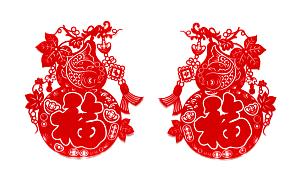 春节,毛绒绒,纸,红色,符号,运气,平坦的,接力赛