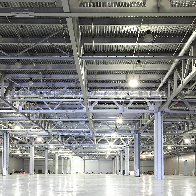 仓库,飞机库,建筑,配送中心,无人,蓝色,巨大的,透视图,方形画幅,工业