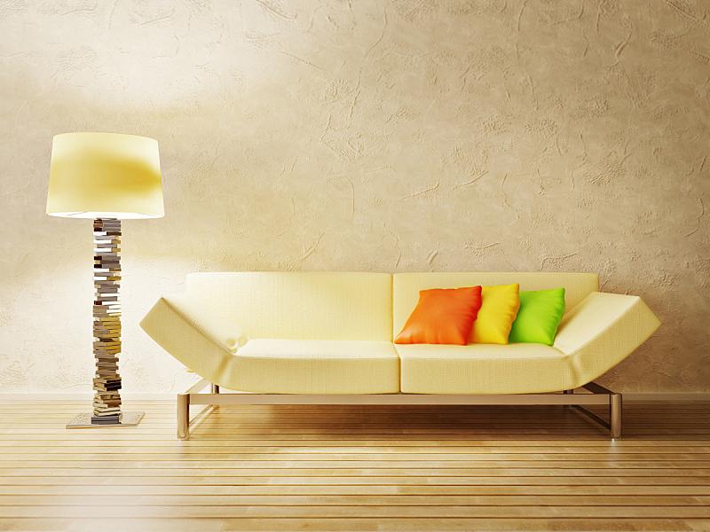 住宅房间,水平画幅,建筑,无人,装饰物,灯,舒服,公寓,现代,沙发