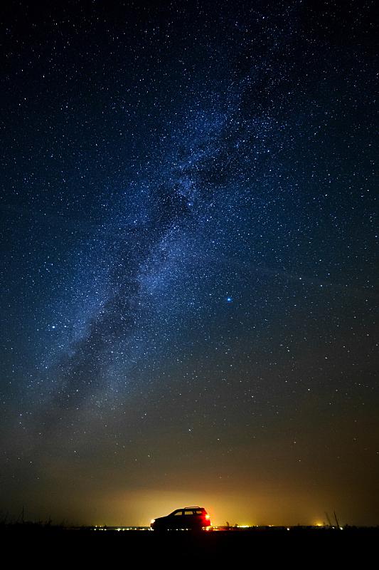 汽车,星空,旅行者,自然,垂直画幅,太空,夜晚,无人,蓝色,摄影