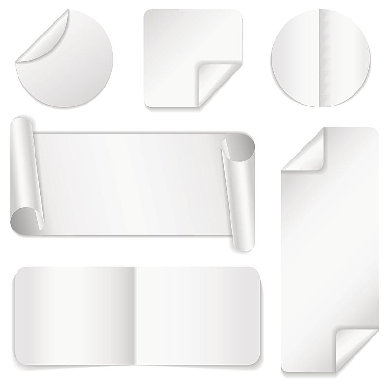 纸,白色,空白的,横截面,优惠券,紧迫,商务,复印机,卷着的