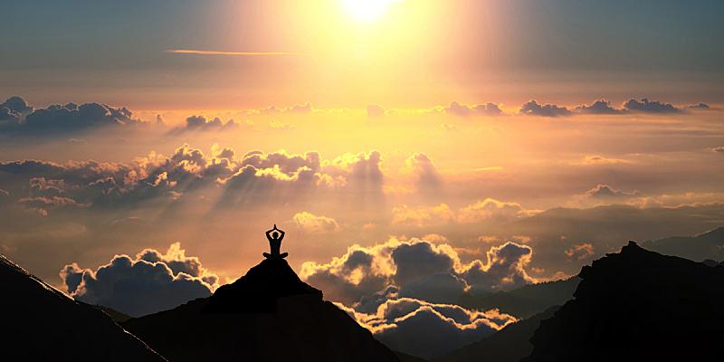 云,在上面,美,禅宗,水平画幅,美人,喜马拉雅山脉,夏天,户外,仅成年人