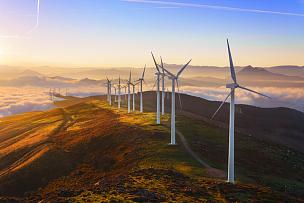 公园,风轮机,天空,风,水平画幅,风力,能源,无人,涡轮,户外