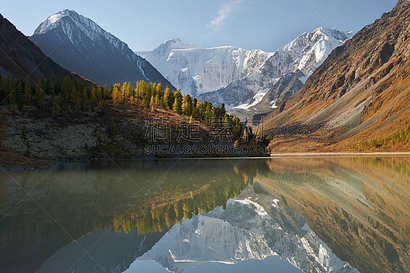 地形,秋天,俄罗斯,自然美,阿尔泰山脉,水,天空,雪,夏天,湖