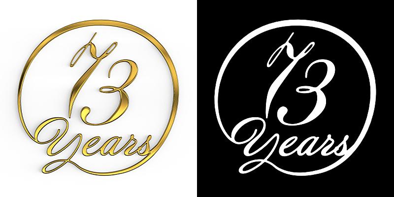 黄金,数字,数字3,周年纪念,请柬,事件,现代,德国语言,节日,标签