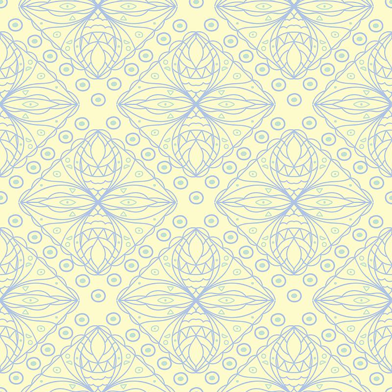 几何形状,四方连续纹样,米色,绿色,蓝色,绘画插图,美,艺术,纺织品