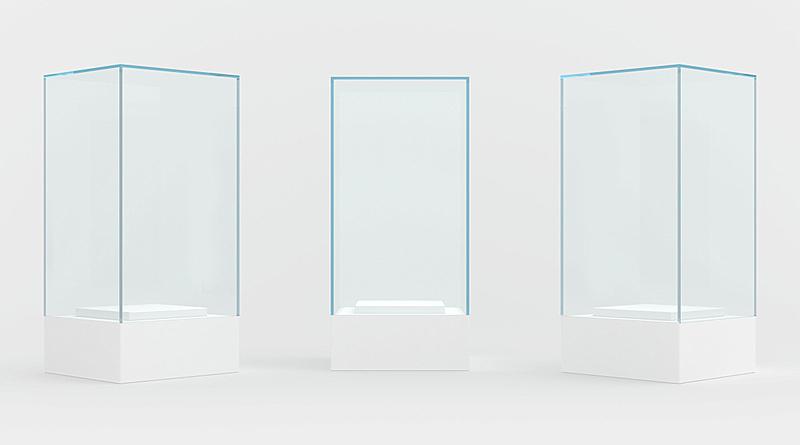 三维图形,灰色背景,陈列柜,分离着色,正面视角,留白,新的,水平画幅,形状,无人