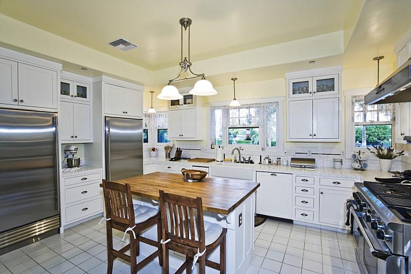 室内,都市风景,厨房,风管,有序,冰箱,地板,简单,椅子,现代