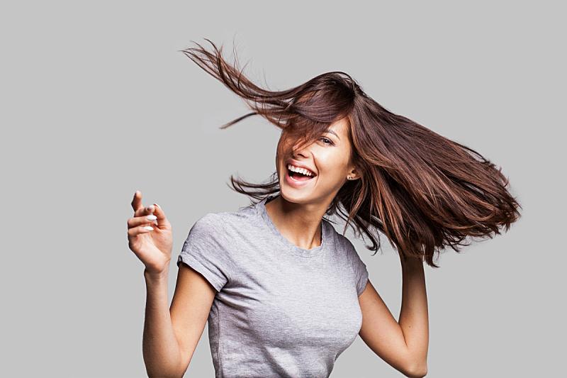 女人,情感,自然美,头发,长发,棕色头发,美,仅一个女人,快乐,舞蹈