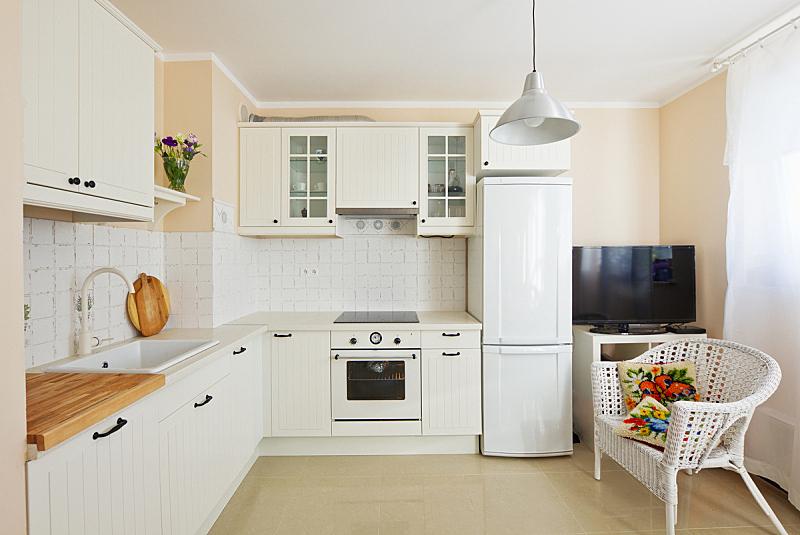 现代,厨房,住宅房间,地板,瓷砖,水槽,古董,烤炉,豪宅,住宅内部