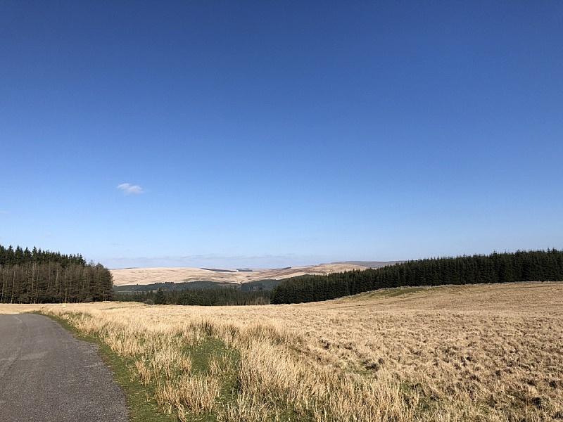 风景,布雷肯国家公园,图像,英国,无人,户外,天空,水平画幅,威尔士,晴朗