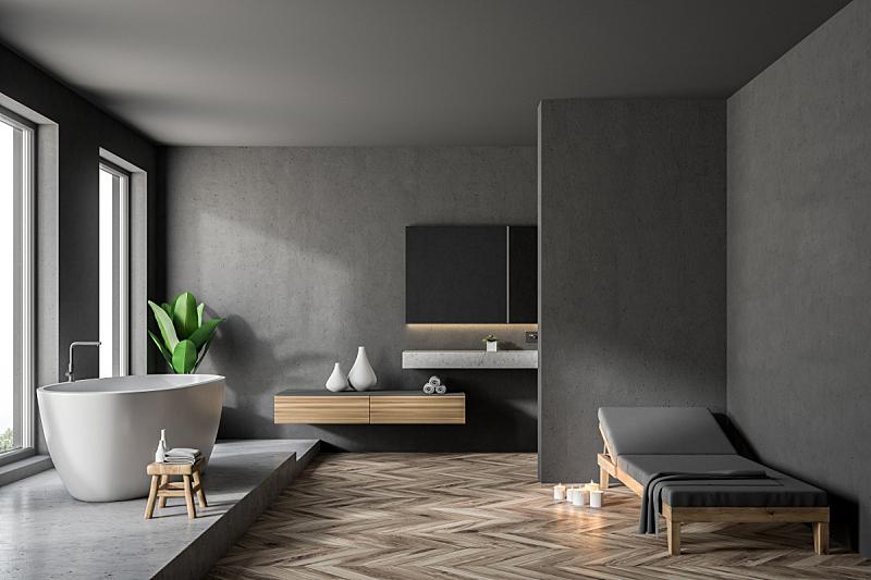 浴室,室内,灰色,长椅,新的,水平画幅,无人,家庭生活,干净,俄罗斯