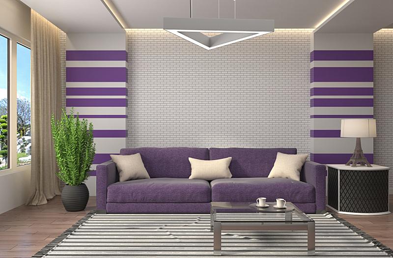 沙发,室内,绘画插图,三维图形,住宅房间,水平画幅,墙,无人,装饰物,家具