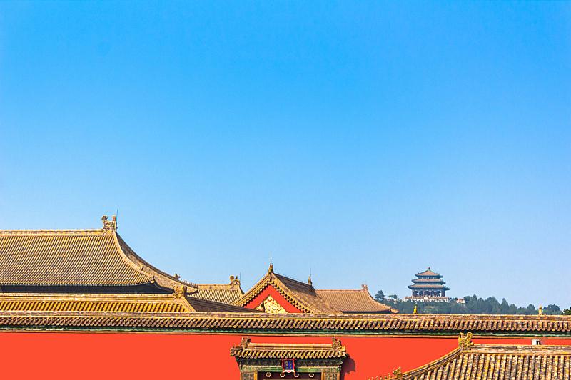 故宫,北京,清朝,庭院,纪念碑,天空,古老的,过去,国际著名景点,彩色图片