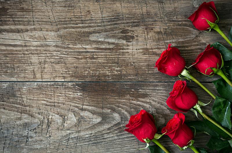 玫瑰,古老的,花束,背景,木制,红色,情人节,生日礼物,周年纪念,母亲节
