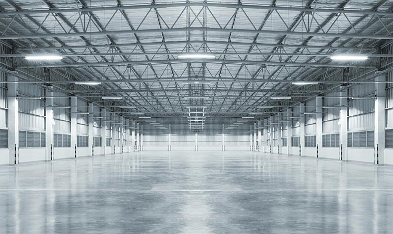 工厂,空的,车库,仓库,混凝土,闪亮的,水泥,地板,暗色,工业