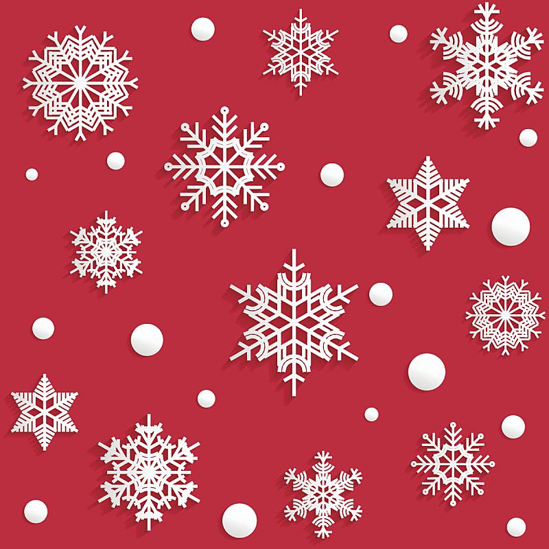 雪花,矢量,式样,纸,红色背景,贴花,折纸工艺,贺卡,艺术