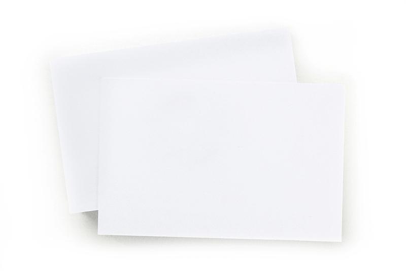 空白的,名片,白色背景,留白,办公用品,水平画幅,高视角,无人,纸板