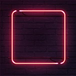 砖墙,长方形,霓虹灯,矢量,方形画幅,粉色,电缆,边框,艺术,形状