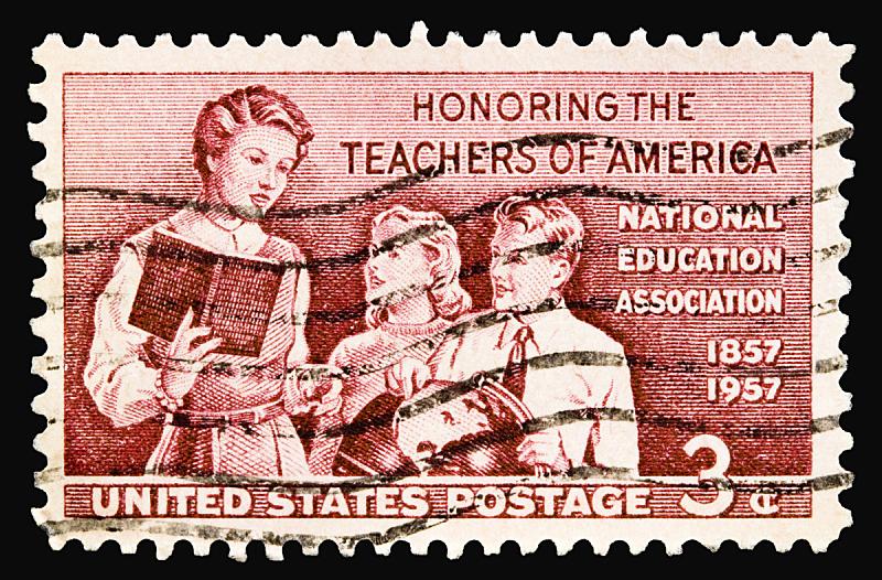1957,教师,美国,艺术,水平画幅,背景分离,学生,学校,数字3,1950-1959年图片