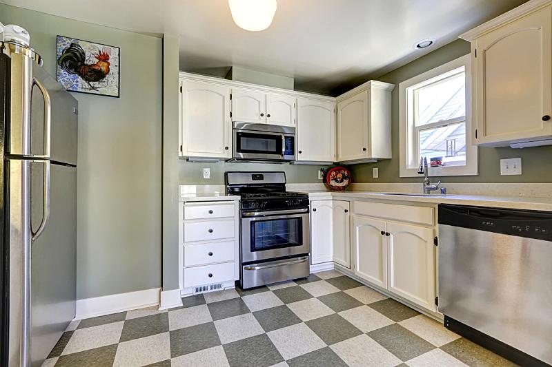 钢铁,用具,厨房,柜子,白色,窗户,住宅房间,水平画幅,建筑,无人