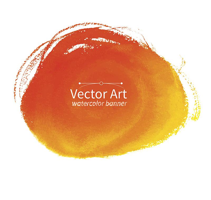 橙色,玷污的,动物手,湿,纹理效果,部分,水彩画颜料,背景分离,有污迹的,肮脏的
