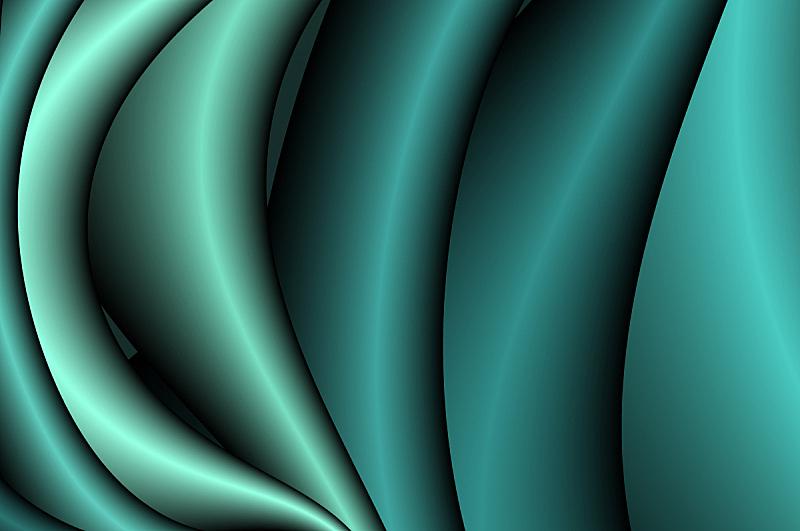 彩色图片,幻想,抽象,体积,祖母绿,波形,磷光,凹的,凸的,未来