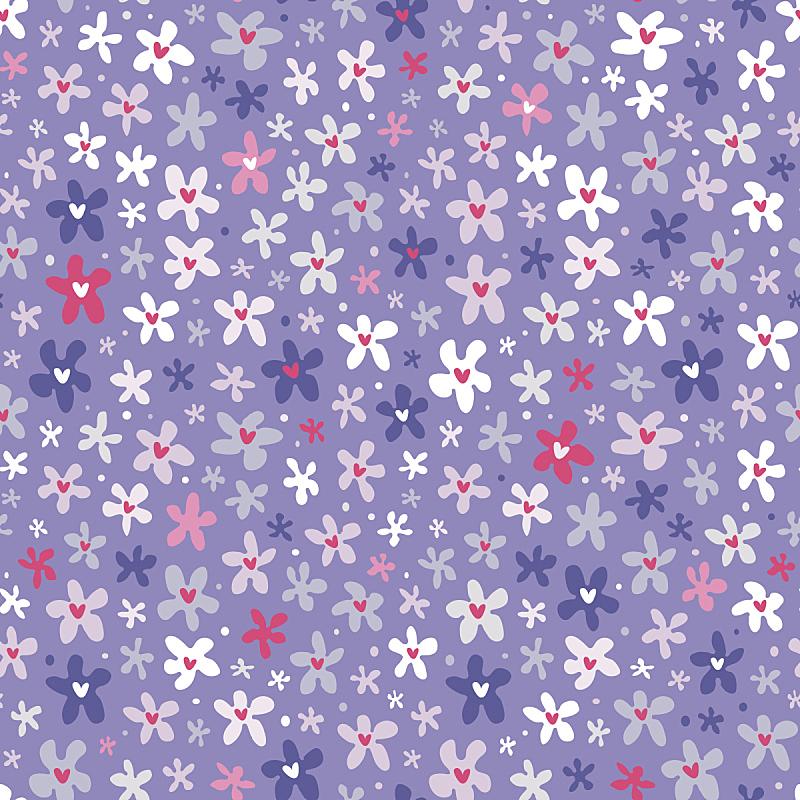 四方连续纹样,仅一朵花,小的,色彩鲜艳,美,纺织品,绘画插图,夏天,卡通,植物