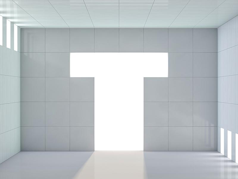 现代,背景,三维图形,建筑,抽象,空的,几何形状,英文字母t,竞技场,地板