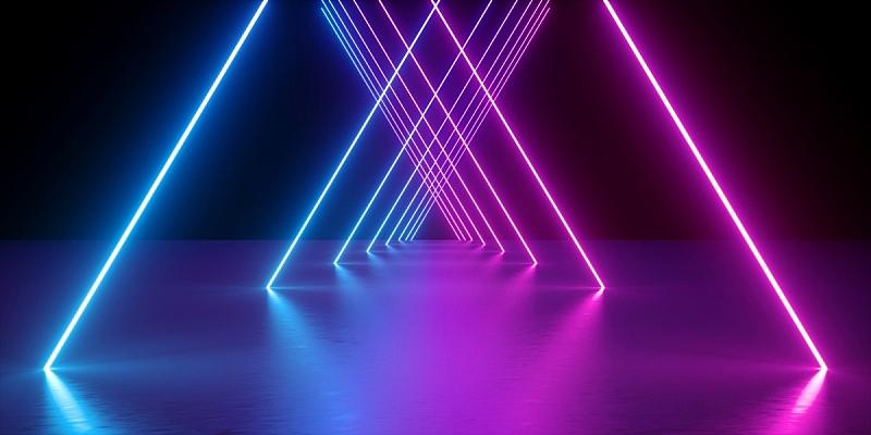 光谱色,紫色,网络空间,背景,成一排,霓虹灯,激光,抽象,发光,表演